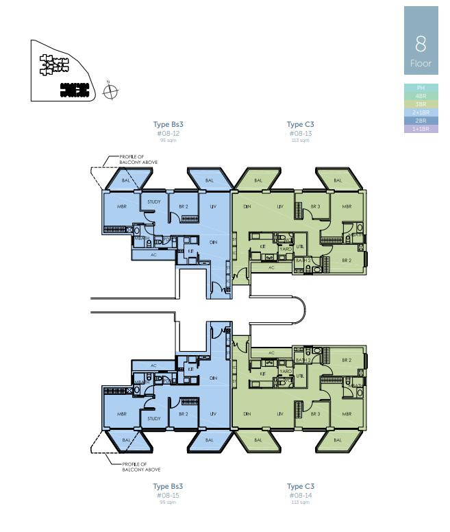 Sky Habitat Floor Plans And Units Mix